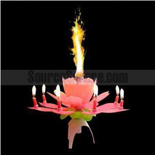The Candle Is Shaped To Resemble A Closed Lotus Flower It Can Be Presented On Its Own Or Placed Top Of Birthday Cake