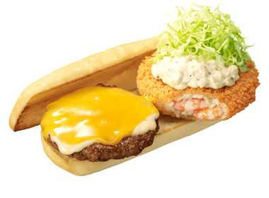 Japanese Fast-Food Chain Serves Up Surf & Turf On A Bun