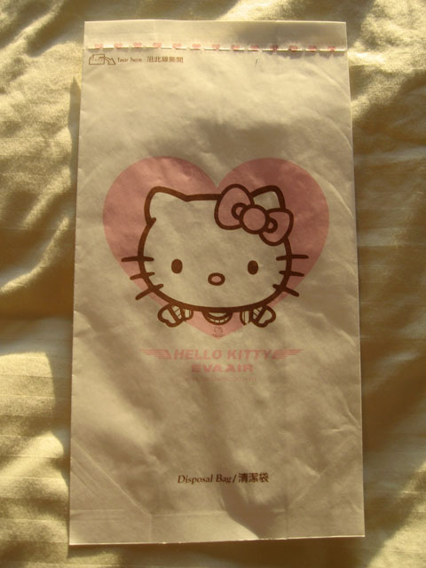 Hello Kitty Barf Bag A Cute Place To Toss Your Cookies