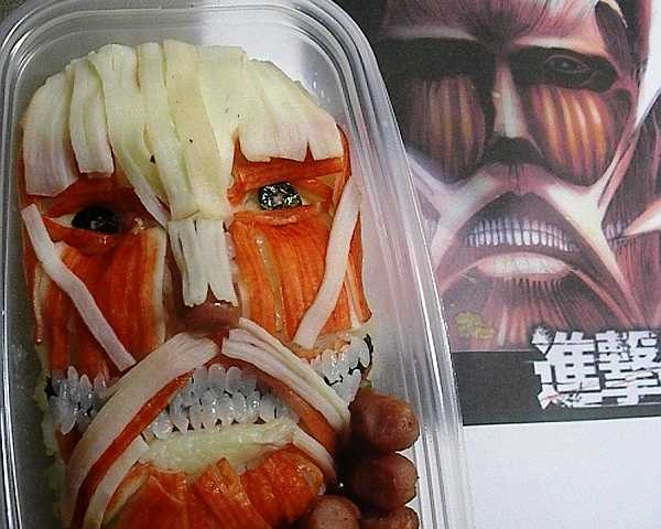 """""""Attack On Titan"""" May Be Japan's Most Horrifying Bento Lunchbox"""