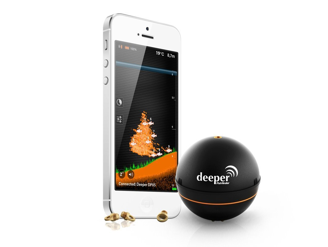 deeper turns your smartphone into a fish finder