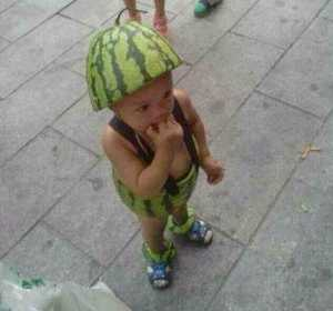 Watermelon Boy In Fruit Suit Goes Viral In China