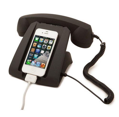 take your iphone totally retro with a talk dock. Black Bedroom Furniture Sets. Home Design Ideas