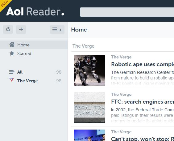 Taking A Look At The New AOL Reader
