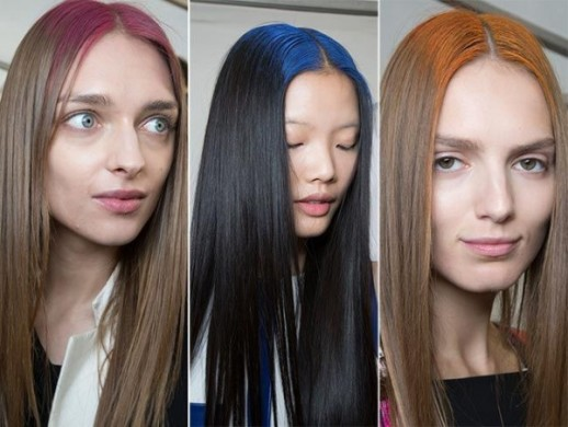 2015 S Strangely Gorgeous Hair Trend Colorfully Dyed Roots