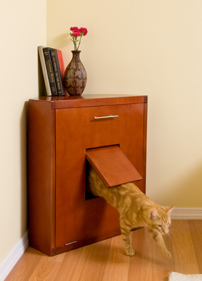 The Corner Litter Cabinet Is About As Refined As A Litter