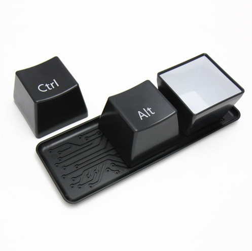 Geek Speak Keyboard Keys Cup Set Restarts Your Meals