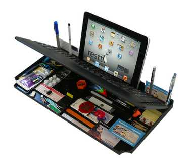 Bluetooth 6 in 1 Keyboard & Organizer With Tablet Stand From myKeyO