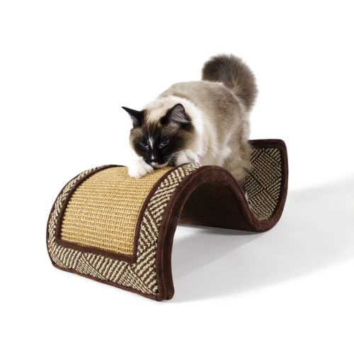 Petlinks system dream curl curvy two surface scratcher for Curved cat scratcher