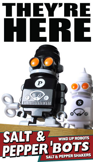 Do Your Meals Lack Spice Robot Salt Pepper Shakers To The Rescue
