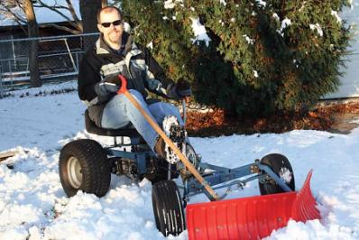 Diy Invention Pedal Powered Snowplow