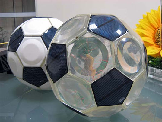 Greendix Integrates Solar Panels Into A Soccer Ball