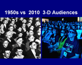 1950s vs 2010 3-D Audiences