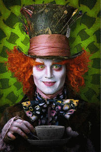 Johnny Depp in Tim Burtons's 'Alice in Wonderland'