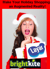 Brightkite Holiday AR Partnership with Layar! 