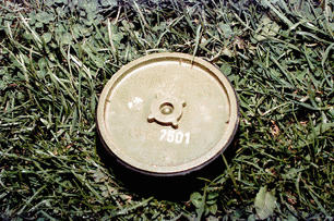 Land mine - dangerous even at a distance.