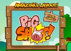 Fire Off Pigs From Slingshots In The Pig Shot iPod Video Game