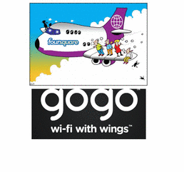 Foursquare Mile High Check-in & Gogo Inflight WiFi Service!