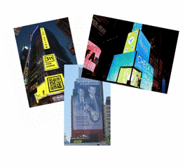 Social Media Billboards Scale Time Square Skyline!