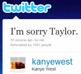 Kanye West's Tweet Apology to Taylor Swift!