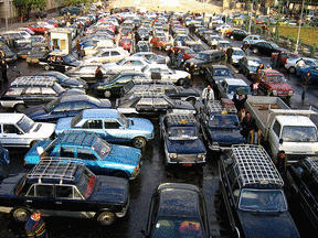 Cairo Traffic Jam - A Clear GPS Failure.