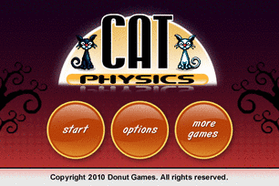 Cat Physics Video Game Menu