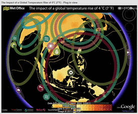 The impact of a global temperature rise of 7°F