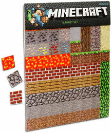 Minecraft fridge magnets.