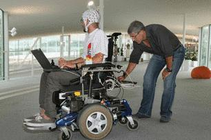Milln &amp; his neuroprosthetic-driven wheelchair