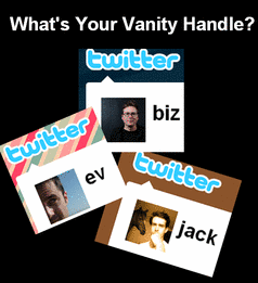 Vanity Twitter Profile Names