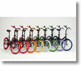 One-Touch Folding Bicycle Comes in 8 Rainbow Colors