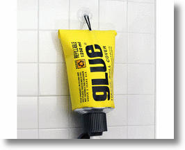 Glue Tube Toilet Paper Holder For Sticky Situations