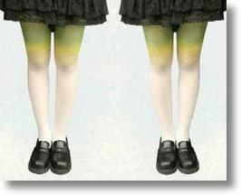 Scallion Stockings Turn Long Legs Into Lovely Leek Lookalikes