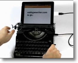 Apple iPad Goes Steampunk With The USB Typewriter
