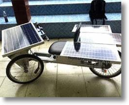 Solar vehicle invented by Vietnamese students