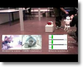 Humanoid robot under mind control