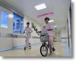Chinese Hospital Nurses Respond to Emergencies on Scooters & Bikes