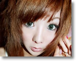 Girls Get the Anime Look with Extra-Wide Contact Lenses