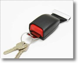 Seatbelt Buckle Keychain Holder Keeps Keys Safe