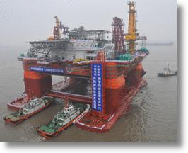 China's Advanced Deep-Sea Oil Platform Drills Deep for Black Gold