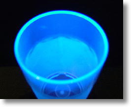 New Radiation Fluorescent Plastic Made From Plastic Soft Drink Bottles