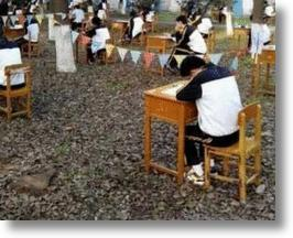 Chinese High School Holds Exams In A Forest To Prevent Cheating