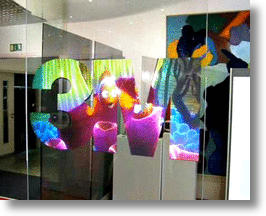3M Rear Projection Film Turns Glass into HD TV Display