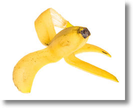 Classic banana peel.
