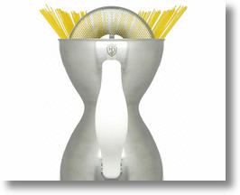 Eco-friendly Pasta Pot's Hourglass Figure Makes Less Waste, More Taste!