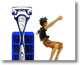 Schick Japan Animates Your Shave with a &#039;One Piece&#039; Anime Action Figure