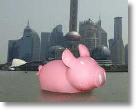 Shanghai See's Your Giant Rubber Ducky & Raises You A Big Pink Piggy