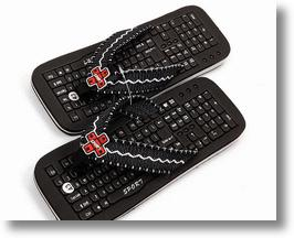 Nerdy Keyboard Sandals Show Off Your Geek Sole