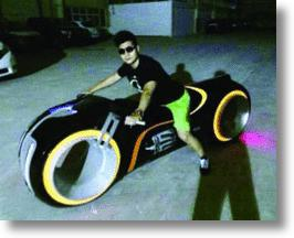Working Electric Tron Light Cycle Bought By Collector Can't Be Legally Driven
