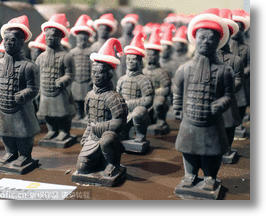 Marching To Christmas: China's Chocolate Terracotta Warrior Army